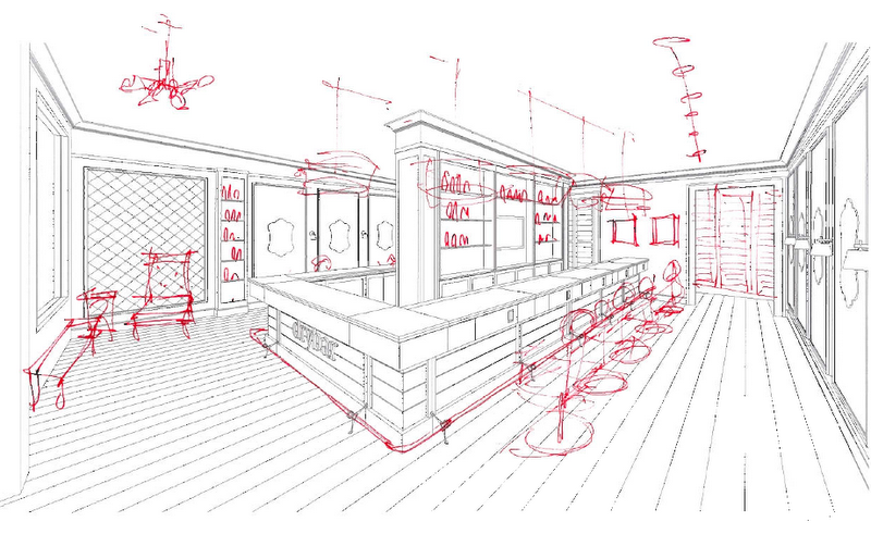 sketch of the dry bar studio city location images via dry bar