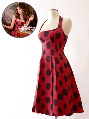 Polka  Dress on Vintage Polka Dot Dress  Which Is Hanging In Sjp S Closet Right Now