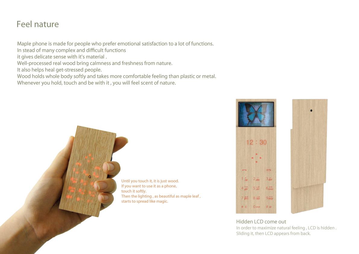 Maple phone un celular con madera es cuesti n de madera for Madera maple