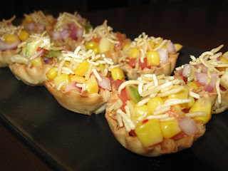 Pinky 39 s khoj khana corn canapes sev puri with a twist for How to make canape shells at home
