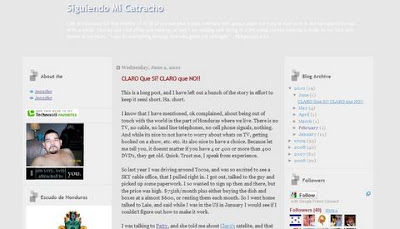 Following my Catracho blog