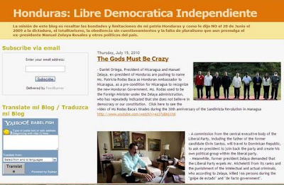 Honduras: Libre, Democrática, Independiente blog