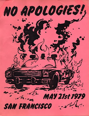 White Night Flyer, May 21, 1979. San Francisco.