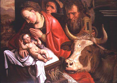 Pieter Aertsen (1508-1575). The Adoration of the Shepherds. Oil on Panel. Rijksmuseum, Amsterdam.