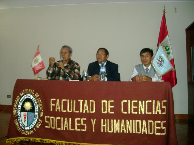 CONFERENCIA EN  LA UNIVERSIDAD NACIONAL DE EDUCACIÓN,