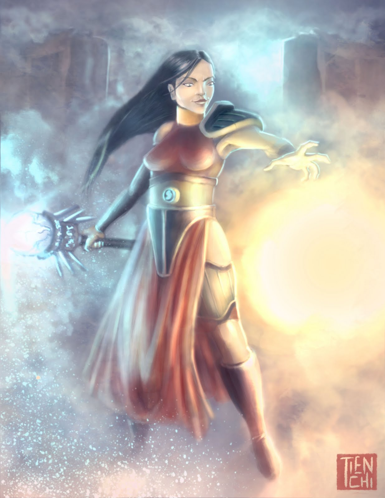 The Art of Tien Chi: Character 3 (Female Sorcerer)