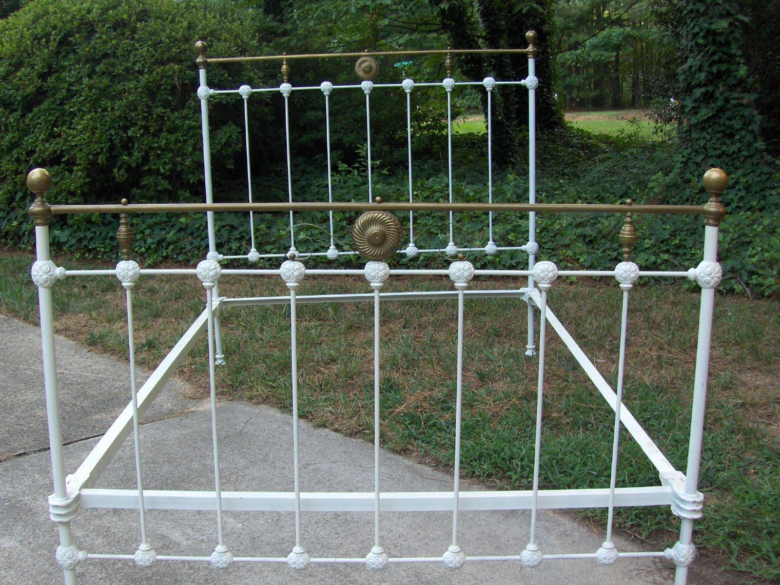 thriftaffair antique brass bed - Antique Iron Bed Frame