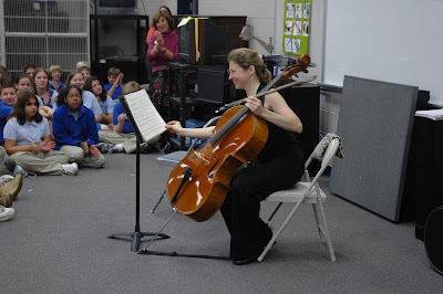 MSO Cello Fellow Performs for Middle School 2