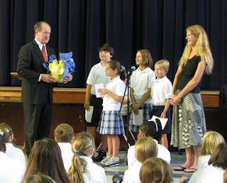 Fourth Grade Elects Mayors; Sworn in by Bright 2