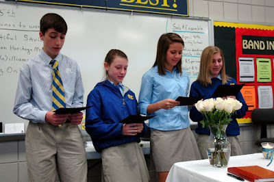 Four Tapped for National Junior Honor Society 1