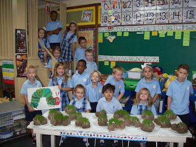 "Kindergarten Students Grow ""Very Hungry Caterpillars"" 1"