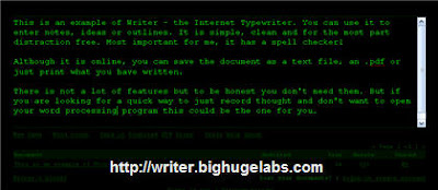 Writer Online Text Editor
