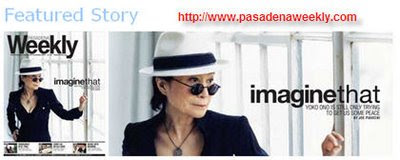 Photo by Tom Haller/(c)Yoko Ono