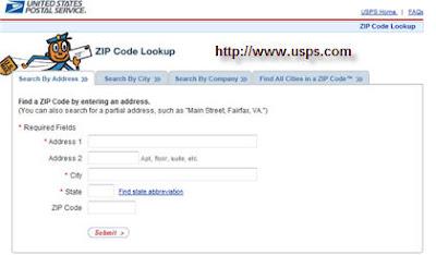 USPS Zip Code Locator