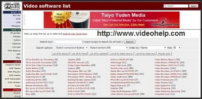 Videohelp Software Tools Page