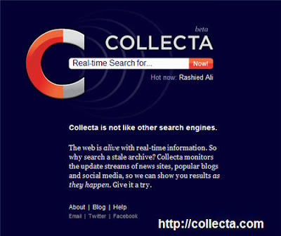Collecta Real Time Search Engine
