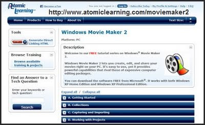 Atomic Learning Tutorial on Windows Movie Maker 2