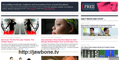 jawbone.tv main page