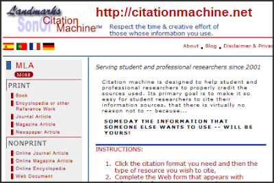 of citation machine mla