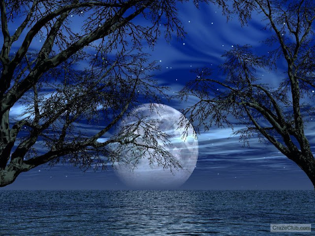 moon horizon water beautiful Amazing Moon Photography