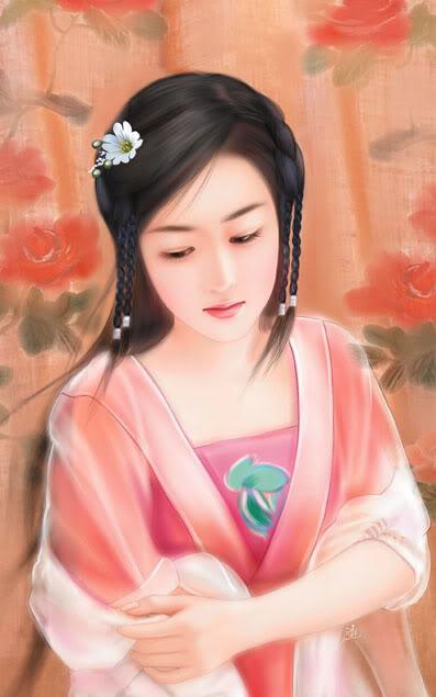Beautiful Chinese Girls Paintings