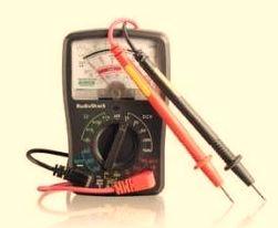 use analog multimeter as ohmmeter