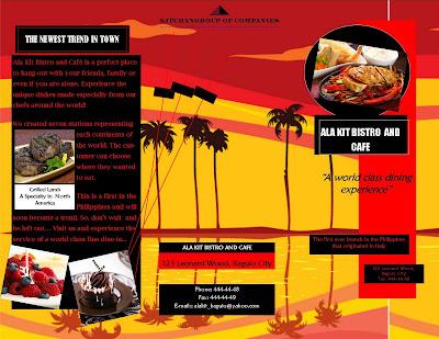 Contoh Brosur Rentoran makanan hotel Contoh Brosur Iklan produk Contoh Brosur iklan
