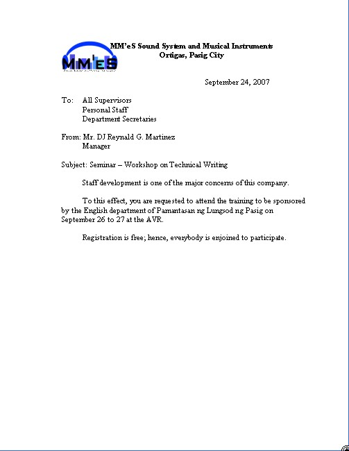 formal letter writing template. BUSINESS LETTER EXAMPLE FORMAT