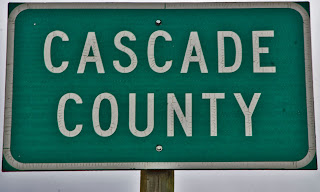 CASCADE COUNTY HIGHWAY SIGN