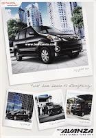 Brosur Toyota New Avanza 2010