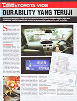 Toyota Vios : Durability Yang Teruji