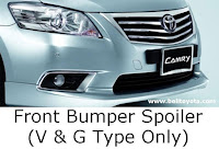 aksesoris camry: Front Bumper Spoiler (V & G Type Only)