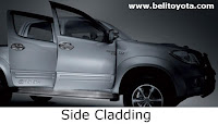 toyota hilux: side cladding