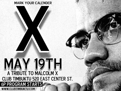 [May 19th is Malcolm X's