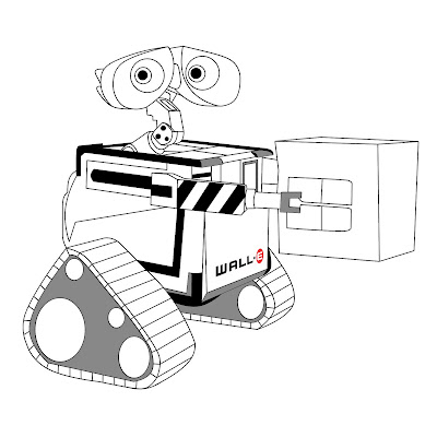 Wall E Coloring Pages New Wall E Coloring Page Carrying A Box Or