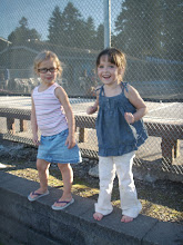 Gracie and Acacia dancing at movie and picnic in the park night !