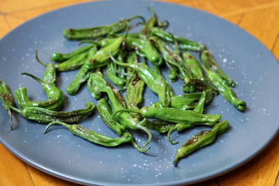 sauteed shisito peppers