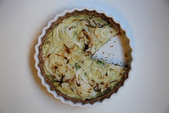 zucchini mascarpone tart