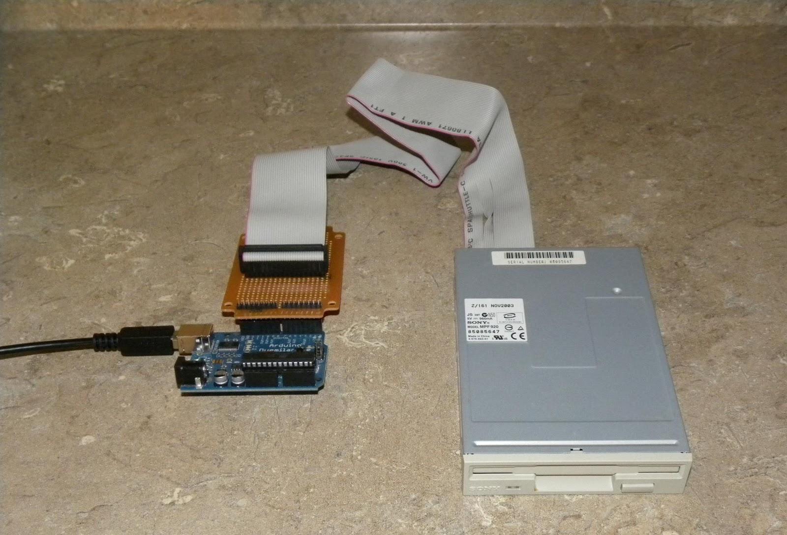 Gin in the okanagan arduino floppy drive shield