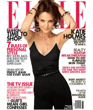 Katie on the cover of elle magazine that imta blog for Elle magazine this month