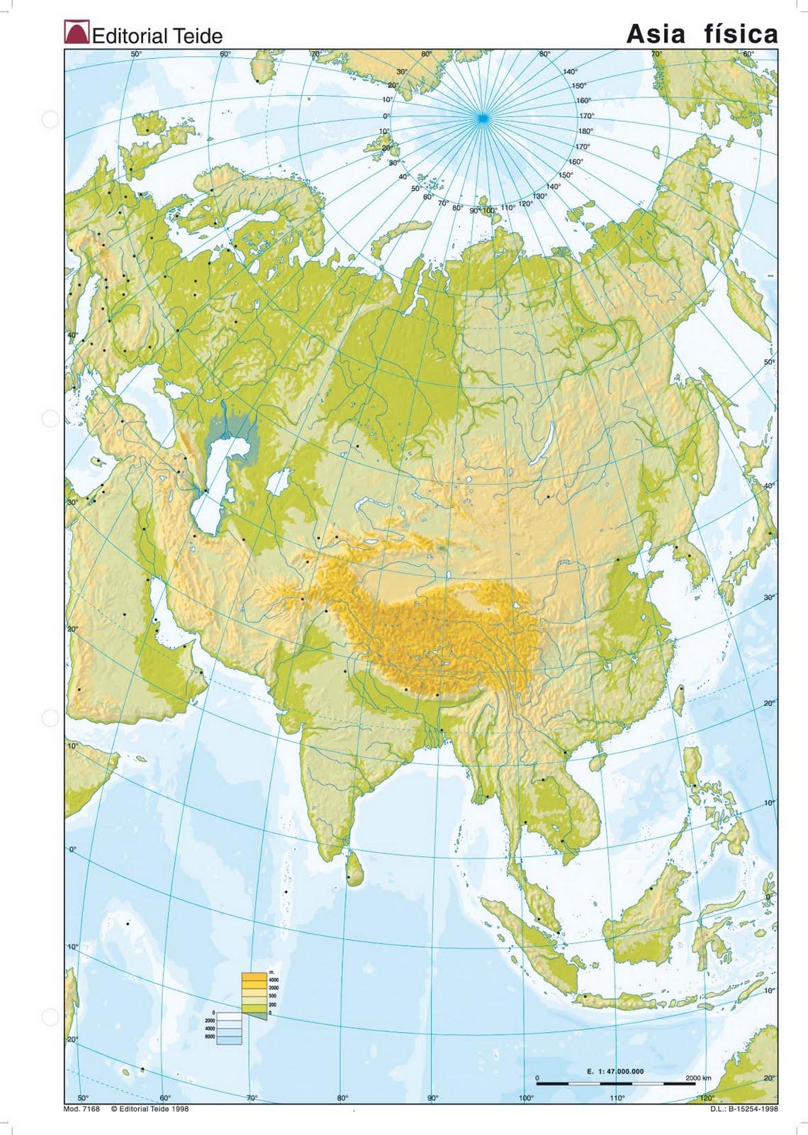 Mapas Mudos De Asia Para Imprimir