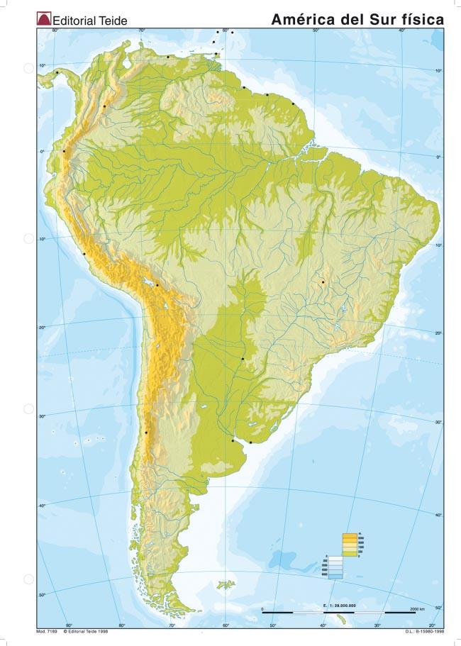 Departament Geografia i Histria Mapa fsico Amrica