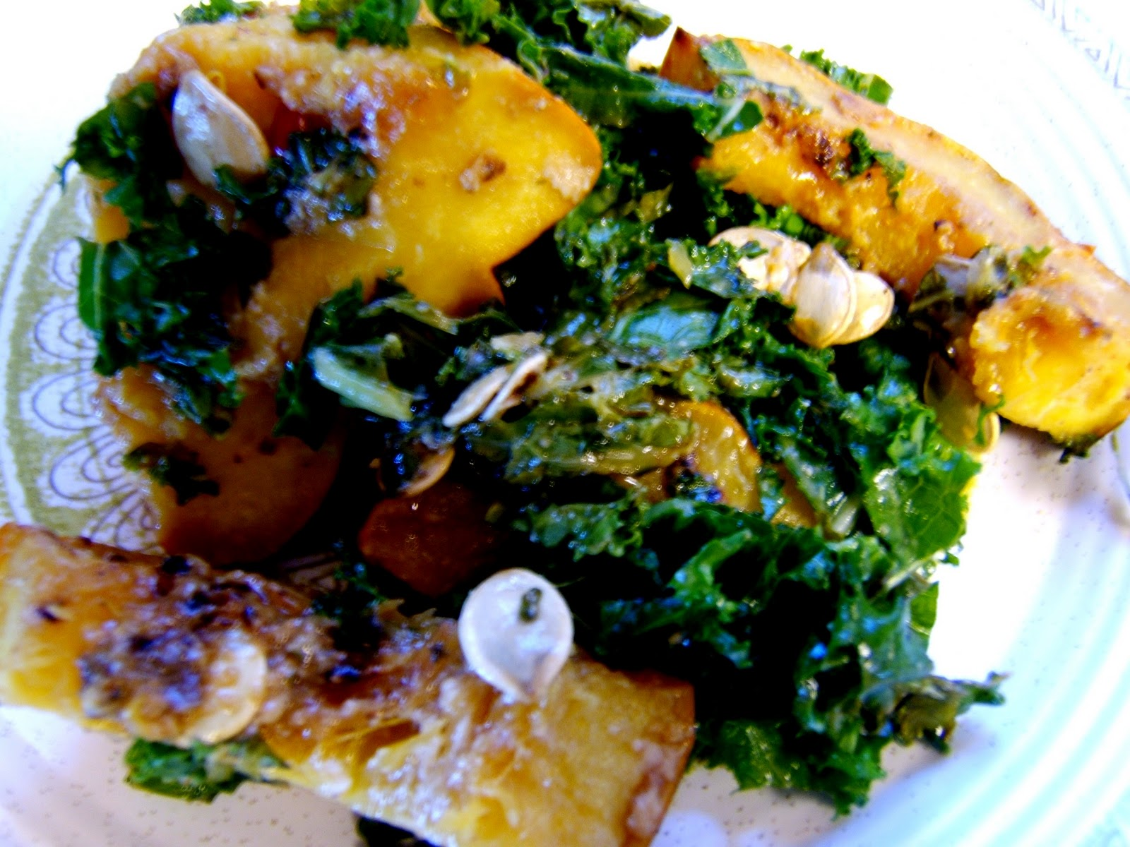 ... : Operation Use Harissa, Phase Two: Miso Harissa Squash and Kale