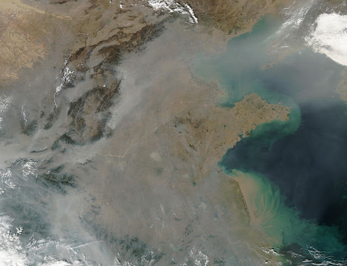 Contaminacin atmosfrica severa en China