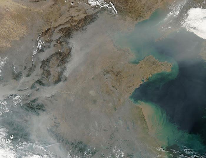 Contaminación atmosférica severa en China