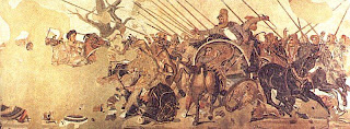 A picture of the Battle of Issus mosaic