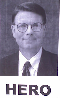 Poster of Dr. Tiller with the word Hero on it