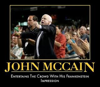 John McCain Entertains Crows with his Frankenstein impression