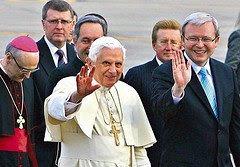 Ratzinger waving to people