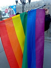 Rainbow flag from Warsaw Pride